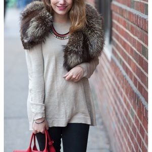 Accessories - Vintage tipped fox stole or collar